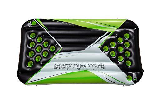 Beer Pong Luftmatratze - Neon Design - inkl. Seilen & Halterungen für Rote Becher