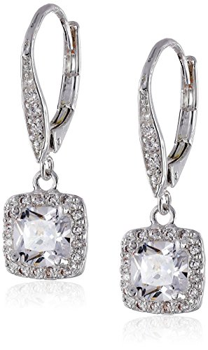 Anne Klein Flawless Silver-Tone & Cubic Zirconia Leverback Drop Earrings