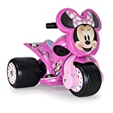 INJUSA - Trimoto Samurai Minnie Mouse 6V Rosa con Pedal Acelerador y Decoración Permanente Recomendada para Niños +12 Meses