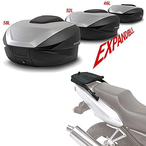 Sh59he145 - Kit fijacion y Maleta baul Trasero sh59 Compatible con Honda CBR 600f 2001-2008