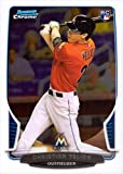 2013 Bowman Chrome Draft Picks Baseball #40 Christian Yelich Rookie Card. rookie card picture