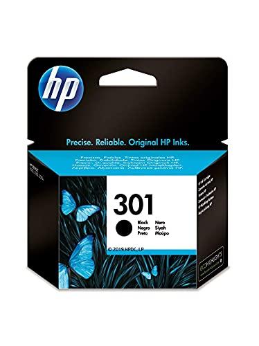 HP 301 CH561EE, Cartucho Original de Tinta Negro , compatible con impresoras de inyección de tinta HP DeskJet 1050, 2540,3050; OfficeJet 2620, 4630; ENVY 4500, 5530 ✅