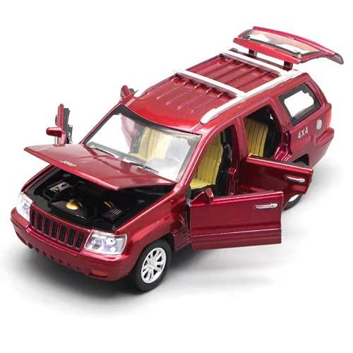 Dlcvko Automotive Model 1/32 Legering Grand Cherokee Model Toy Car DieCast Rug Sound 6 Open deur Toy Car Childrens Toy Collection