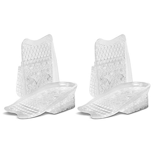 Sky Risers - Height Increase Insoles (2 Pairs) 4 Layer Silicone Gel Heel Cushion Pads Inserts, Height Increased Heel Shoe Inserts for Men & Women with Advanced Comfort & Ergonomics