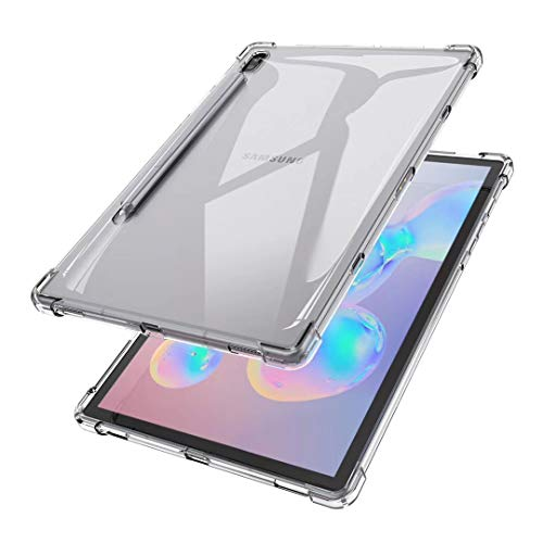 TianTa Clear Case for Galaxy Tab S6 10.5 2019, Ultra Slim Soft Silicone Crystal Transparent Protective with Shockproof Soft TPU Edge for Samsung Galaxy Tab S6 10.5 inch SM-T860/T865 2019 Release