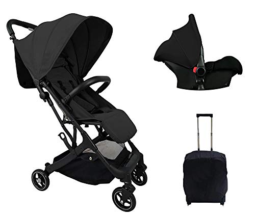 Silla de Paseo + Grupo 0 Star Ibaby Duo Plus. Color Negro.