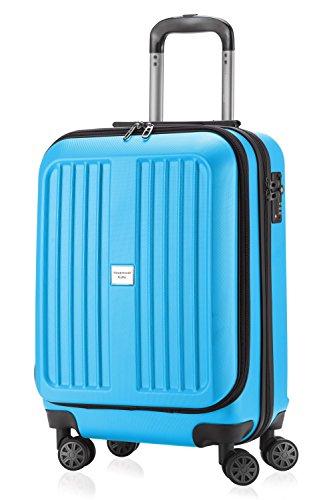 HAUPTSTADTKOFFER - X-Berg - Handgepäck Koffer Trolley Hartschalenkoffer, TSA, 55 cm, 42 Liter, Cyanblau matt