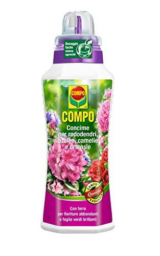 Compo 1086302005fertilizantes para Azaleas, Rhododendron y camelias, 1L, verde, 9x 18,7x 27cm