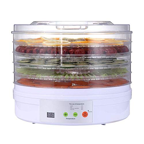 Review Of HIZLJJ Food Dehydrator, Electric 5-Tire Fruit Vegetable Dryer with Adjustable Timer and Te...