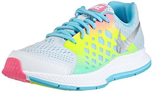 Nike Zoom Pegasus 31 Mädchen Laufschuhe, Grau (Pro Platinium/Metallic Silver-Blue Lagoon-Volt), 35.5 EU (3 Kinder UK)