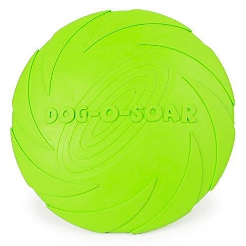 Payxuan Disco Volador para Perro de Goma,Naranja Ø 15cm