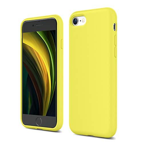 ZUSLAB Nano Silicone Funda para iPhone SE 2020/iPhone 7/iPhone 8 Case Líquido de Silicona Gel Amarillo