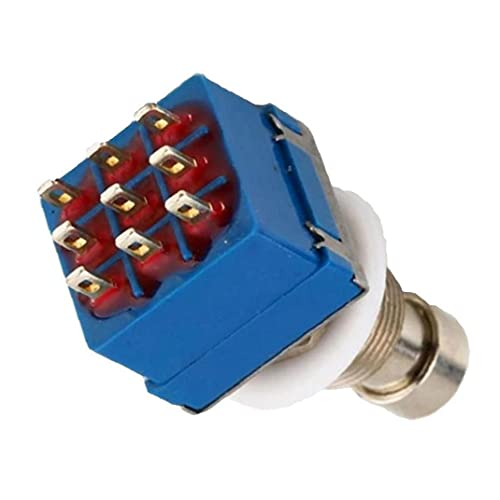 Efectos de guitarra pedal interruptor 3PDT 9 pines pedal de pie True Bypass eléctrico Accesorios para guitarra, los botones y los indicadores