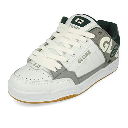 Globe Herren Tilt Leichtathletik-Schuh, Weiß/Grau/Grün, 41 EU