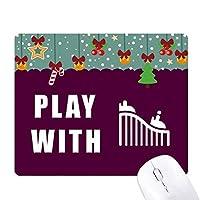 ジェットコースター ゲーム用スライドゴムのマウスパッドクリスマス