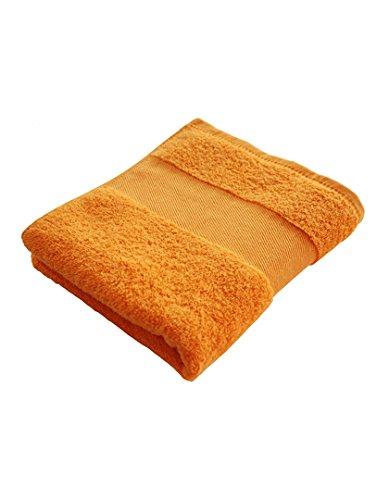 Gastenhanddoek 30 x 50 cm van badstof, oranje, 450 gram kwaliteit, katoen