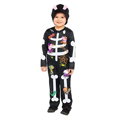 amscan 9907585 - Disfraz de esqueleto de Peppa Pig