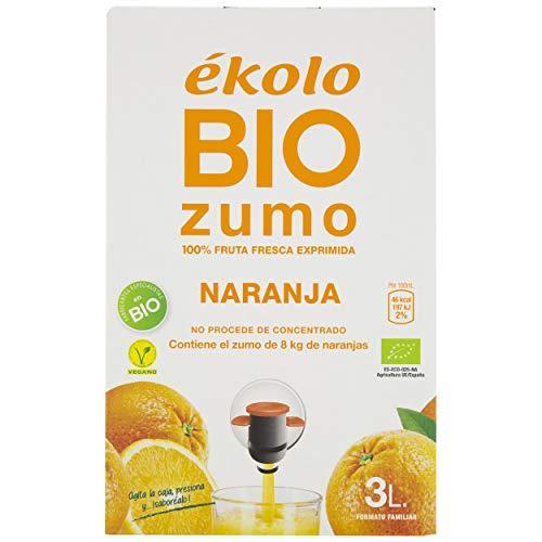 Ekolo Bag In Box Zumo De Naranja Bio , 1 Caja, 3Litros 3000ml