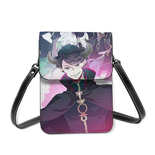 XCNGG Monedero pequeño para teléfono celular Haikyuu!! Cell Phone Purse Small Crossbody Bag Women Leather Mini Cell Phone Pouch Shoulder Bag to Carry Dexterous Convenience with Adjustable Strap Wallet