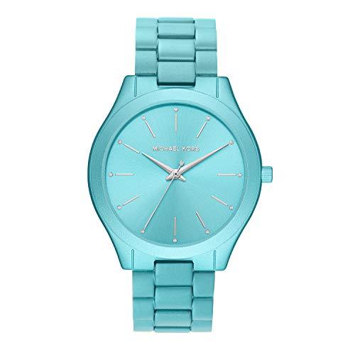 Michael Kors Women's Quartz Watch with Metal Strap, Blue, 20 (Model: MK4525)