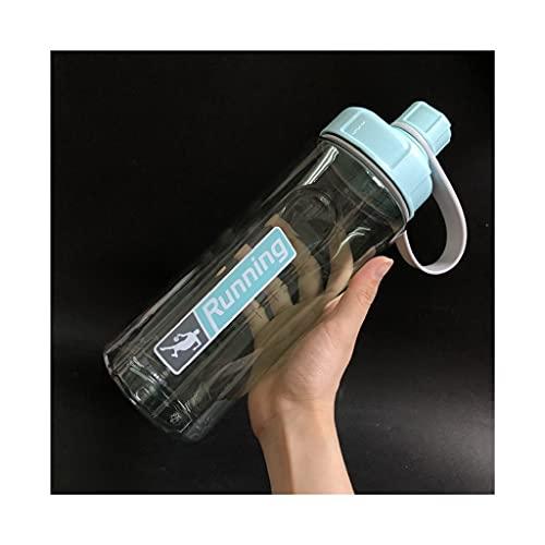 DWQ Botella de Agua portátil Grande con Escala de Volumen, Botellas de Beber Transparentes para Interiores y Exteriores, 1200 ml / 40 oz (Color : Blue, tamaño : 1200ml)