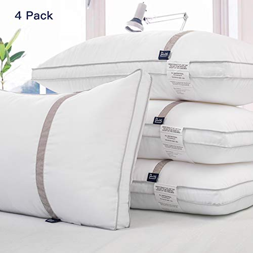 BedStory 2/4 Pack Bed Pillows for Sleeping-Hypoallergenic Sleeping Pillows for Side and Back Sleeper Hotel Pillows Down Alternative Pillow with Super Soft Fiber Fill