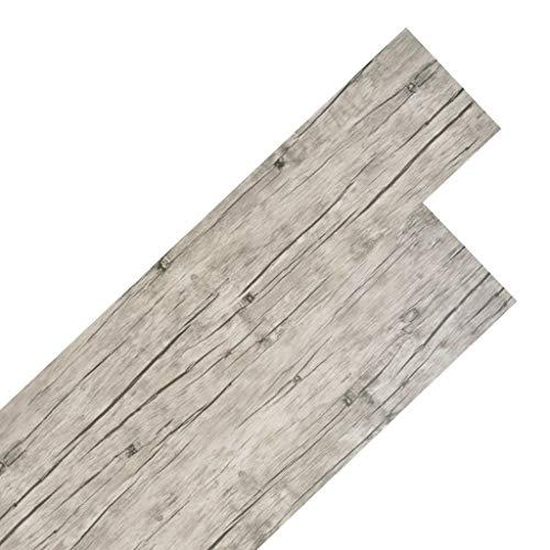 Galapara Vinyl-PVC Laminat Dielen, Bodenbelag Holzoptik | Schiffsboden Buche | 122,8 x 23,8 cm, 5,26 m² | Wasserfest, Schwer Entflammbar, Schimmelbeständig | 8 Dekors wählbar - Eiche gewaschen