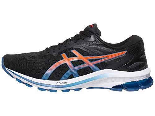 ASICS Men's GT-1000 10 Running Shoes, 7M, Black/Reborn Blue
