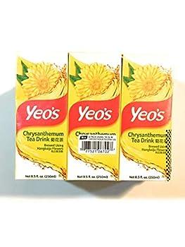 Yeos Chrysanthemum Tea Drink  6x8.5 Fl Oz -3 Pack