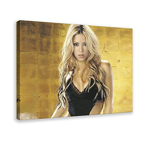 Shakira Isabel Mebarak Ripoll schöne sexy berühmte Sänger-Figur Kunstdruck Poster 6 Leinwand Poster Schlafzimmer Dekor Sport Landschaft Büro Zimmer Dekor Geschenk Rahmen Stil 30 × 75 cm