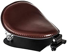 Senkauto Brown 3 inch Leather Solo Seat with Spring Bracket Kit for Harley Davidson Sportster XL 1200 883 48 Chopper Bobber Seats Custom