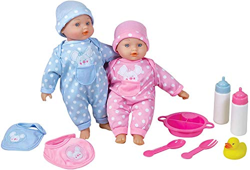"Lissi 11"" Twin Baby Dolls"