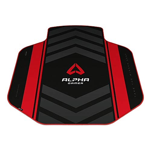 Alpha Gamer Decan - Red (Floor Mat, Alfombra del Suelo, Gaming)