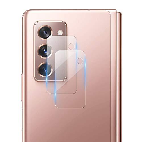Miimall [2 Pièces] Caméra Arrière Protecteur Compatible avec Samsung Galaxy Z Fold2, [Verre Trempé 9H] Anti-Rayure HD 2.5D Ultra-Mince sans Bulles Caméra Film Protecteur pour Galaxy Z Fold 2 5G