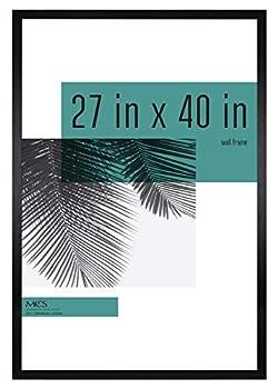 MCS Industries Studio Gallery Frames 27x40 in Black Woodgrain
