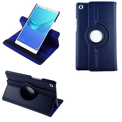COOVY 2.0 Custodia per Huawei MediaPad M5 8.4 SMART 360° GRADI DI ROTAZIONE COVER SUPPORTO PROTEZIONE CASE Auto Sveglia Sonno | blu scuro