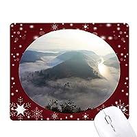 フォグライトグリーン林業科学は自然の風景 オフィス用雪ゴムマウスパッド