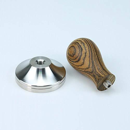41/49/51/53/57/57.5/8 / 58.35mm houten handvat koffiesabotage poeder hamer roestvrijstalen basis Barista espresso stamper # 10, Cordia Dichoto hout, 53mm