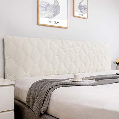 Överdrag för sänggavel Stretch säng Huvudgavel Överdrag, Premium sänghuvudöverdrag Mjukt huvudgavelöverdrag Enkelt/dubbelt tjockare Quiltat huvudgavel Överdrag (Color : Beige, Size : 180cm)