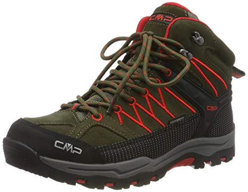 CMP Unisex-Kinder Kids Rigel Mid Shoe Wp Trekking-& Wanderstiefel, Grün (Loden-Ferrari 05fd), 39 EU