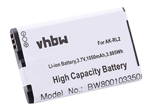 vhbw Li-Ion Akku 1050mAh (3.7V) für Seniorentelefon, Handy Emporia V20M, V20MB, V20MC, V20ME, VF4 wie AK-RL2.