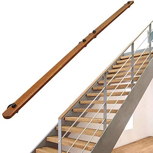 Pasada de barandilla de escalera - Kit completo.Barandilla de la escalera de madera sólida antideslizante, las barandillas de la escalera de la pared Villa Loft Interior Hand Man Handle Kindergarten H