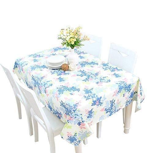 Qfeng Factory bedrukte stof waterdicht anti-scald rechthoekige tafelkleed picknicktafel voor party diner partij (kleur: blauw, grootte: 137 * 200cm)