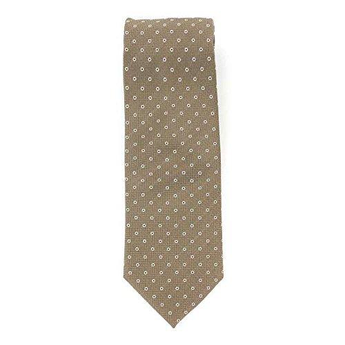 Cotton Park - Cravate 100% soie beige - Homme