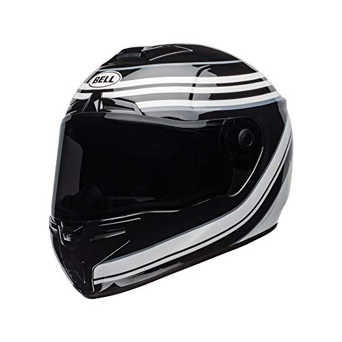 Motodak helm Bell SRT jurk gloss wit/zwart maat XL