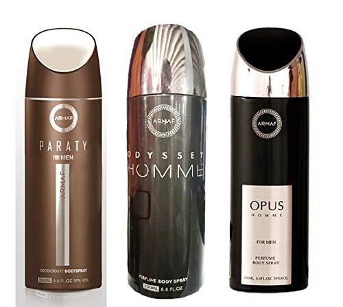 Pack of 3 Assorted Armaf Perfume Body + Odyssey Spray 6.6 oz Fees free!! Par Wholesale