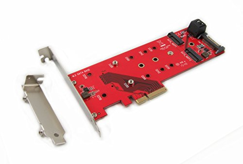 Ableconn PEXM2-125 M.2 NGFF to PCI Express 3.0 x4 Adapter Card - Support 1x M.2 PCIe (NVMe or AHCI) SSD + 2X M.2 SATA SSDs