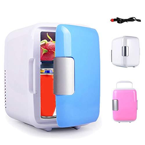 Mini Drinks Fridge Slim 4L Car Refrigerator, 12V Counter Table Top Beverage Cooler Warmer Fridges Box for Skincare Drinks Office for Car Trunk RV (Color Name : Blue)