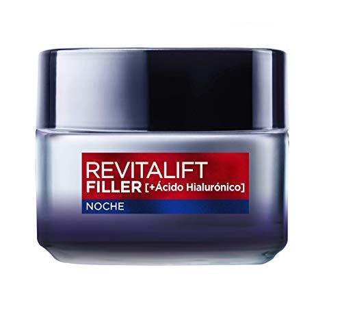 LOréal Paris Revitalift Filler Crema de Noche Revitalizante, Antiarrugas y Volumen, Anti-edad, Con Ácido Hialurónico, 50 ml