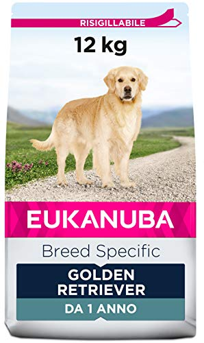 Eukanuba Breed Specific Alimento Secco per Golden Retriever Adulti, Cibo per Cani Adattato in Modo Ottimale alla Razza 12 kg